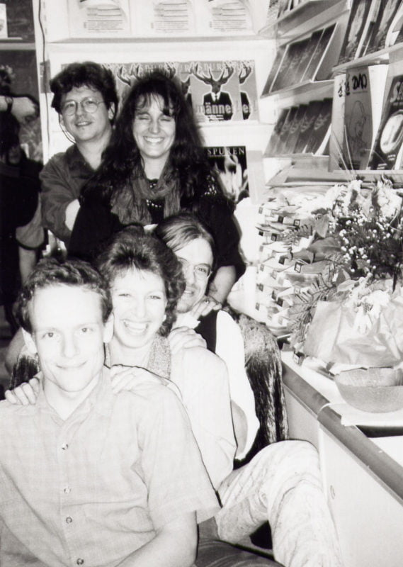 Reiki Zug auf der Buchmesse Frankfurt mit Paula Horan und Frank Doerr 1997